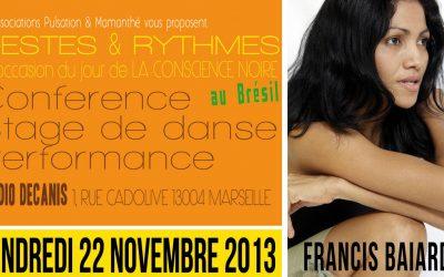 22 novembre 2013 – Gestes et rythmes