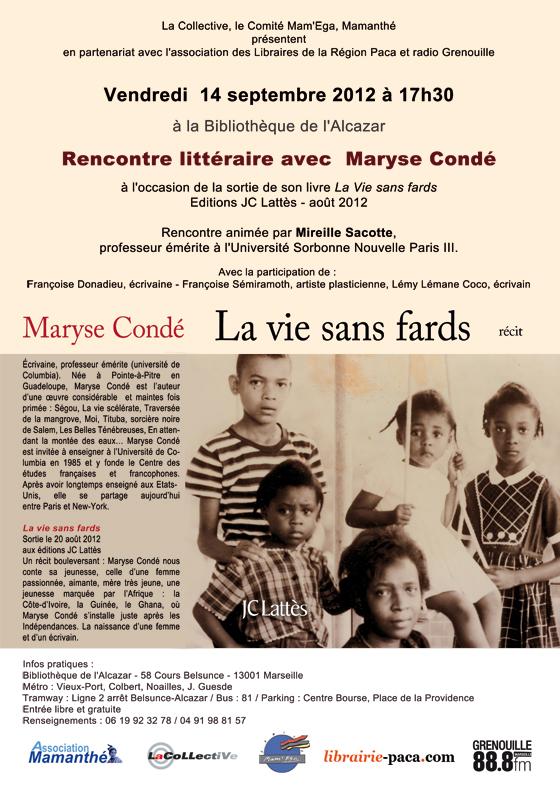 Septembre 2012 – Rencontre littéraire avec Maryse Condé