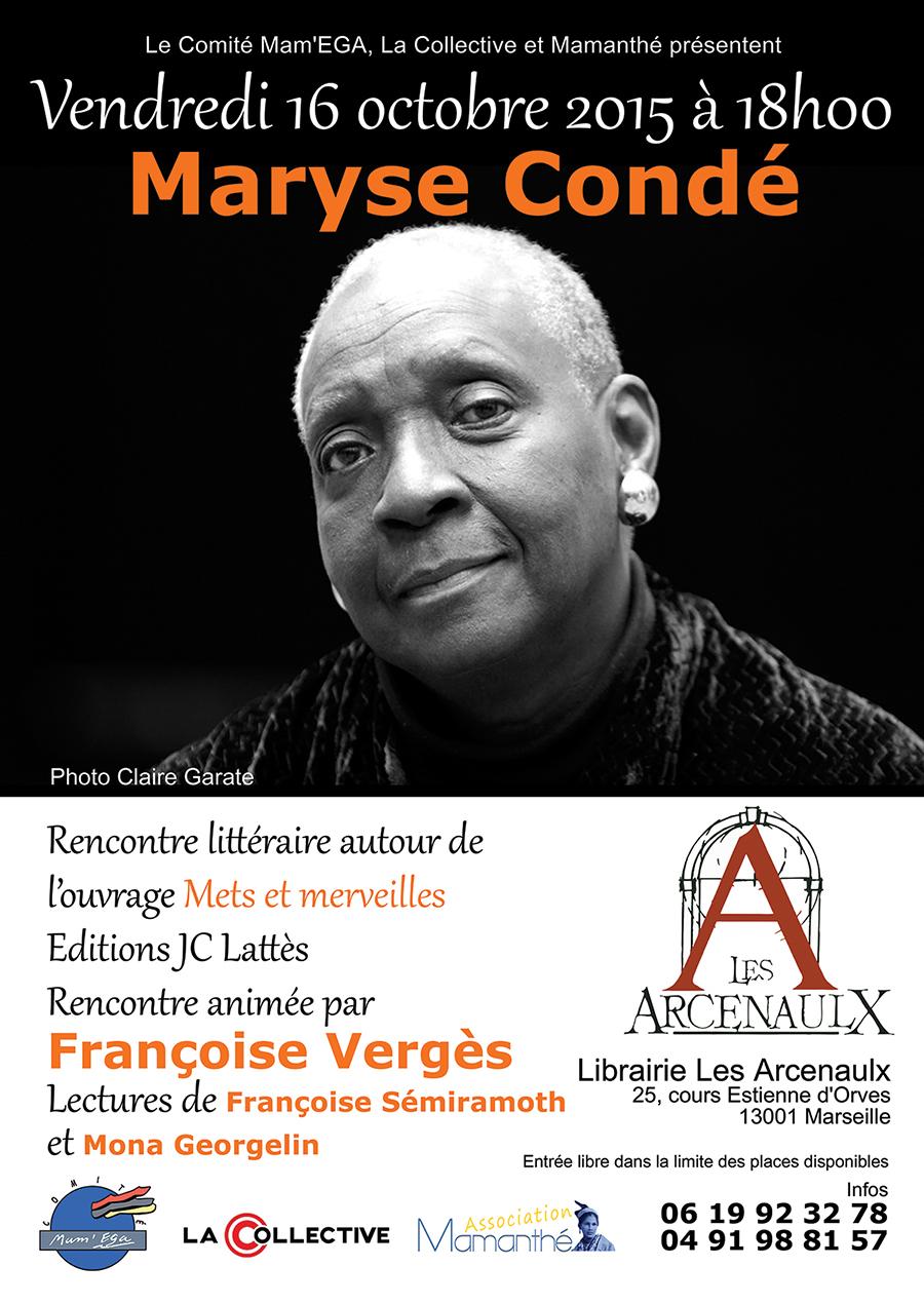 16 octobre 2015 – Rencontre littéraire avec Maryse Condé
