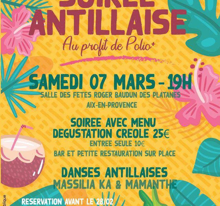 Samedi 7 mars 2020 – Soirée antillaise